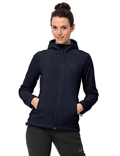 Jack Wolfskin Damen Skywind Hooded Fleecejacke, Midnight Blue, 3