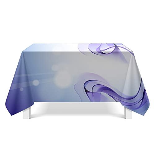 DSman Mesa de Comedor Lavable Cubierta de Lino de Tela con Arte del patrón de Aurora