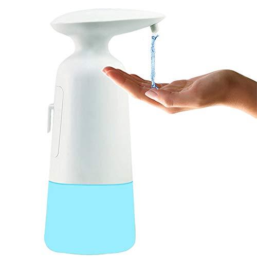 Dispensador de Jabón Automático, Dispensador de Jabón Sensor de Movimiento Inteligente 350ML, Resistente al Agua IPX4 Rociador de líquido sin Contacto para el hogar, la Oficina, el Hotel