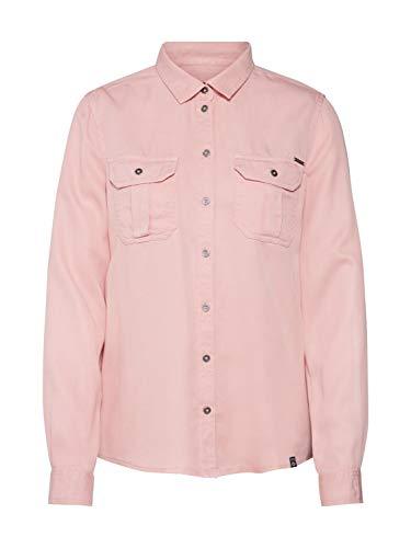 Superdry Xenia Shirt Blusa, Rosa (Pink Acid Wash H2e), Small (Talla del Fabricante: 10) para Mujer