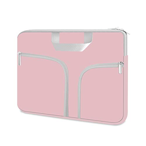 """HESTECH Chromebook Case, 11.6-12.3 inch Neoprene Laptop Sleeve Case Bag Handle for Acer r11 /Spin 311/HP Stream/Samsung/MacBook Air 11/ Microsoft Surface Pro X/7/6/5/4/3/2/1 /Go-12.4"""",Baby Pink -  J11D42"""
