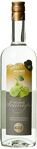 DOLOMITI Williams Schnaps 35% vol. | Williamsbirnen Schnaps | milder Schnaps aus Williams-Christ-Birnen | 1 x 1 Liter