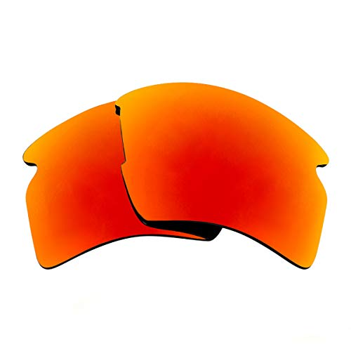 Seek Optics Replacement Lenses for Oakley FLAK 2.0 XL, Revo Fire Red Mirror Polarized