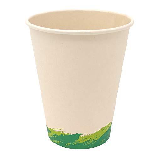50 Vasos de Café Desechables, Vasos de Fibra de Bambú Biodegradables y...