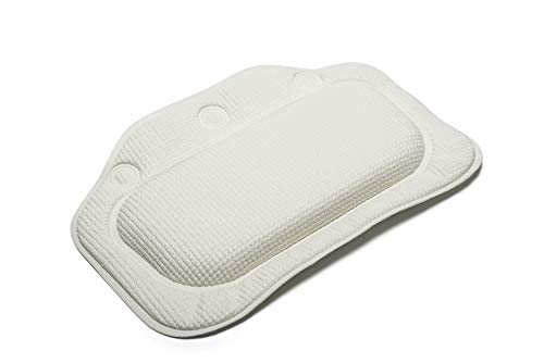 Croydex(クロイデックス)バスピローホワイト(BG2070-22)すべり止めバスピロー縦21×横30×厚さ3cm140g3つの吸盤でしっかり固定洗濯機丸洗い可PVC製マレーシア製