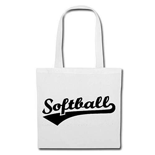 Tasche Umhängetasche Softball - BALLSPORT - Beach Ball - Volleyball - Handball Einkaufstasche Schulbeutel Turnbeutel in Weiß