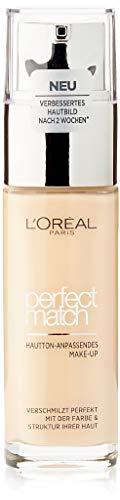 L'Oréal Paris Perfect Match Make-up 2.D/2.W Golden Almond, flüssiges Make-up, hautton-anpassend, pflegt die Haut mit Hyaluron und Aloe Vera