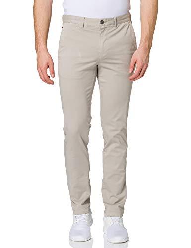 Tommy Hilfiger Bleecker TH Flex Satin Chino GMD Pantalons, Piège à Sable, 36W x 31L Homme