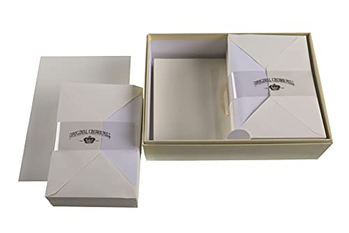 Crown Mill Luxury Letter Writing Paper Stationery Set/Box - Cream