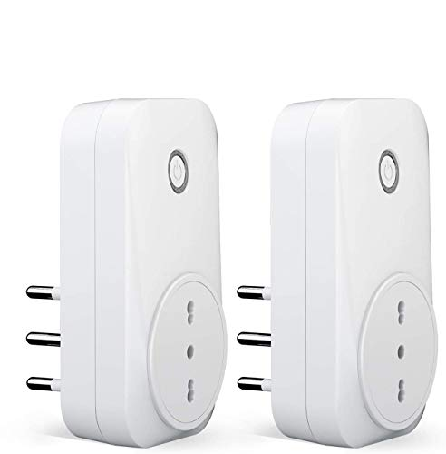 meross Presa Intelligente Wifi Italiana 16A 3680W Smart Plug Spina Energy Monitor, Funzione Timer, APP Controllo Remoto, Compatibile con SmartThings Amazon Alexa, Google Assistant e IFTTT, 2 Pezzi