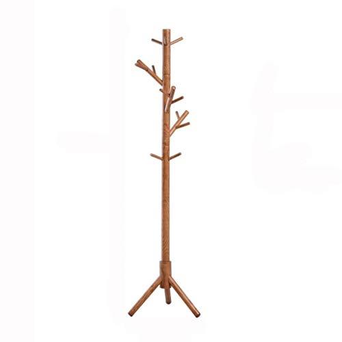 MKVRS Perchero de madera para árbol, 9 ganchos, soporte para abrigos de pasillo, soporte para sombrero, para bolso, ropa, accesorios (color: B)