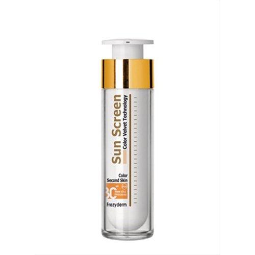 Frezyderm - Protector solar de cara de terciopelo SPF 30, color crema