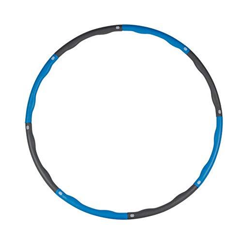 miuse Fitnesskreis, Gewichtsverlust Schlankheits Kreis, 8 Abschnitten abnehmbare Schaumbeschichtung, Reifen Hula Hoop für Kinder und Erwachsener, 1 Kg Level 1 gewichteter Reifen(Blau + Grau)