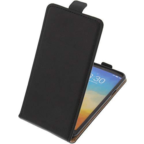 foto-kontor Tasche für Meizu M15 Smartphone Flipstyle Schutz Hülle schwarz
