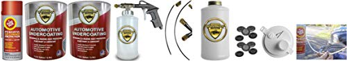 Fluid Film & Woolwax 2 Gallon Undercoating Kit Bundle w/PRO Gun & 2 Wands. Straw(Clear) Color.