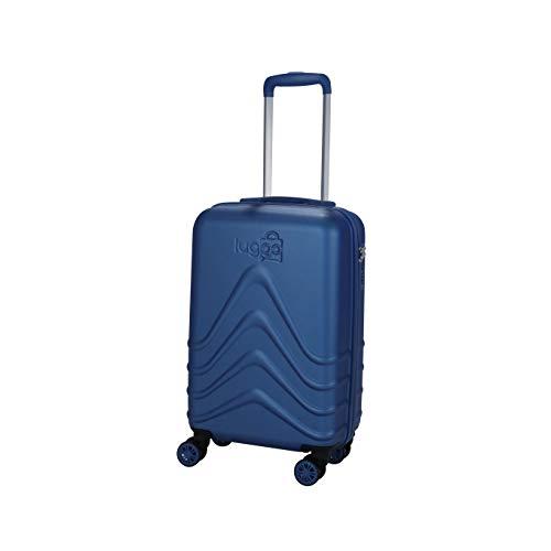 Luggo - Maleta de Cabina Capullo (Azul) 8 Ruedas Giratorias - Cerradura TSA - 20% Más Livianas