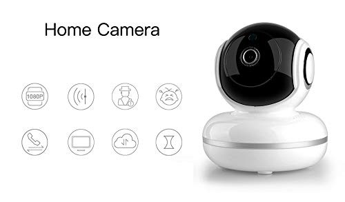 Home Camera Babyfoon 1080P FHD WiFi IP Camera Indoor Security Camera Bewegingsdetectie Nachtzicht Home Surveillance Monitor 2-Way Audio Baby Pet Elder Remote Viewing