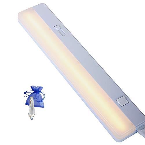 Onderbouwlamp plafondlamp wit L. 35cm wandlamp werklamp LED 5,5W met dimmer, 1,70m kabel en stekker 7922W kristal Give Away