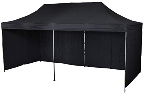 Bastionshop GAZEBO 3m x 4,5m waterproof GAZEBO MARKET STALL POP UP TENT Blue Green Beige Red Yellow (Black)