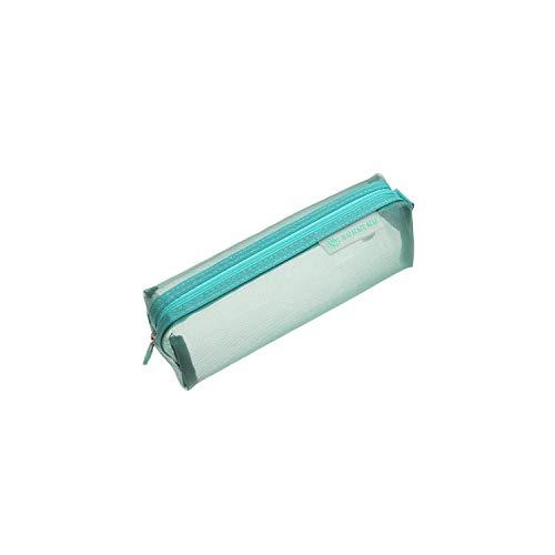 Fall Kosmetik |1PC Cute Solid T Mesh Kosmetik Aufbewahrungstasche Frauen Make-up Bag Organizer Klare Toilettenhandtaschen Reißverschluss Beauty Kit Fall-Türkis-