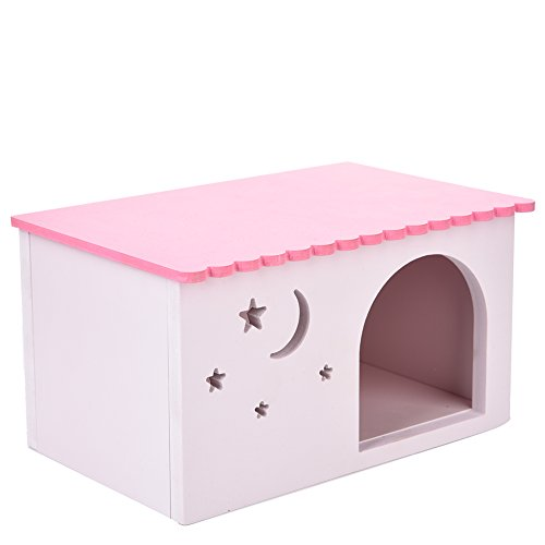 Foerteng Wooden Small Animal Hideout Hamster House Mini Hut Pet Toys for hamsters, chinchillas, guinea pigs and other small pets