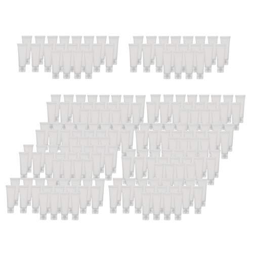F Fityle 200 pcs Bouteille Vide Tubes en Plastique Souple 50ml pour Shampooings, Cosmétique, Gel Douche, Crèmes