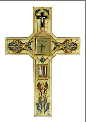 Bluenoemi Decorative Cross with Wholesale Max 84% OFF Gemstones Bibl Wall Hanging Holy