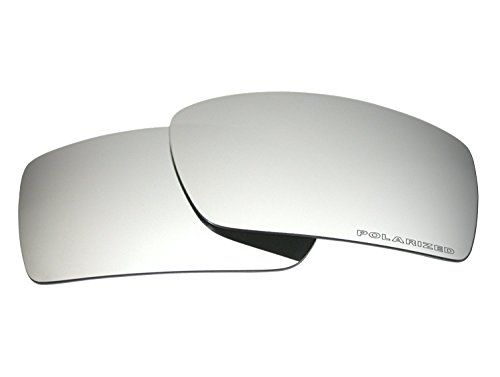 COODY Polarized Replacement Sunglasses Lenses for Oakley Gascan with UV Protection (Titanium Mirror)