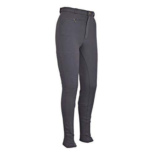 Discount Pet Accessories Equitación Hombre Suave Elástico Jodhpurs Jods Pantalones De Montar En Gris - 40 EU/76 cm