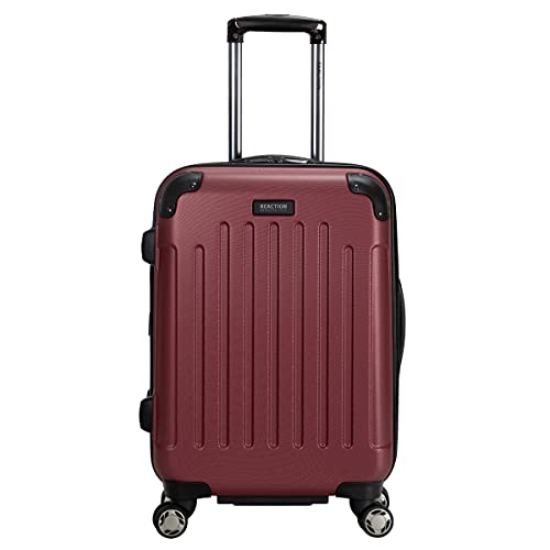 """Kenneth Cole Reaction Renegade 20"""" Carry-On Lightweight Hardside Expandable 8-Wheel Spinner Cabin Size Suitcase, Sangria, inch"""