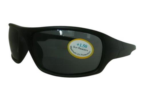 Negro Bifocal Integral Ciclismo Deportes Wrap Around Gafas de sol 100% Protección...