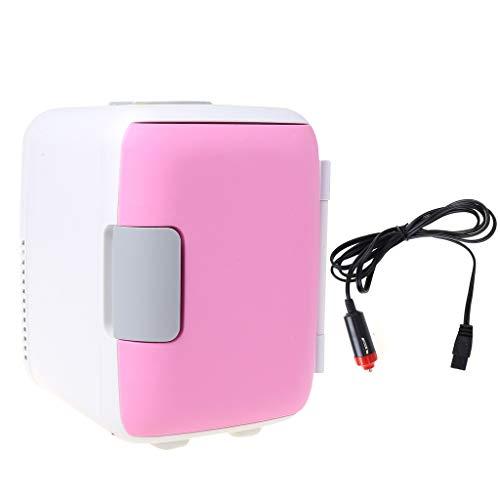 Mini nevera Weishazi de doble uso, ultra silencioso, para uso en coche, refrigerador de bajo ruido y congelador, caja de refrigeración y calefacción rosa