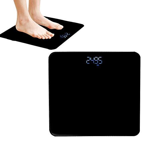 Slimme weegschaal, elektronische aanraak-LED Digitale weegschaal USB Huishoudelijk lichaamsvet Weegschaal Hoge precisie weegschaal Meet het gewicht vo(Zwart)