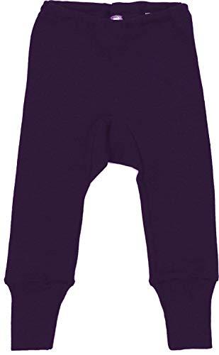 Cosilana Baby Leggings aus 70% Wolle und 30% Seide kbT von Wollbody® (86/92, Pflaume)