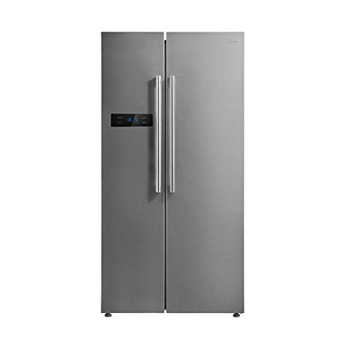 Midea MS689A3 Frigorifero Side by Side 510 L, A+++, Inverter, Total No Frost, Finitura Acciaio Inox