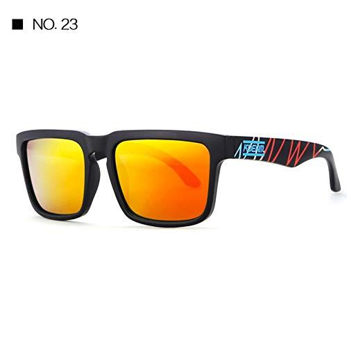 Burenqi Gafas de Sol Deportivas para Hombres Gafas de Sol cuadradas para Mujer UV400 Gafas de protección para Hombres con Estuche rígido con Cremallera