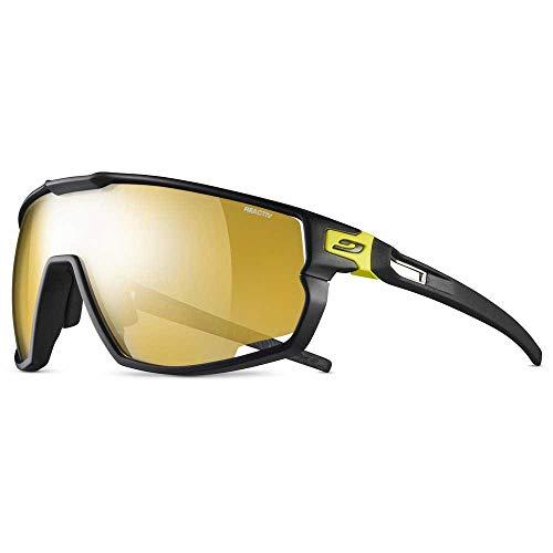 Julbo Unisex Rush Sonnenbrille, Schwarz/Gelb, Einheitsgröße