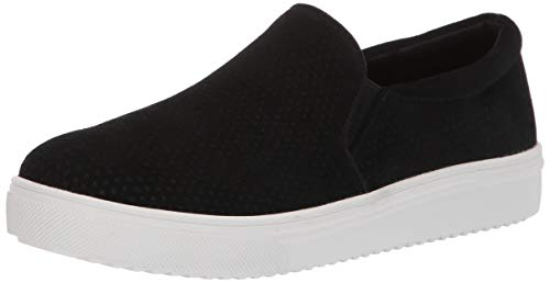 Blondo Women's GALLERT Shoe, Black Suede, 8.0 Medium US