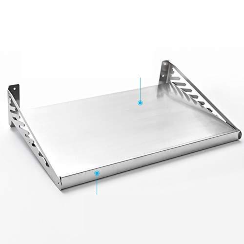 Yxsd Estante de cocina de acero inoxidable para montar en la pared, 40 x 40 cm (tamaño 120 cm)