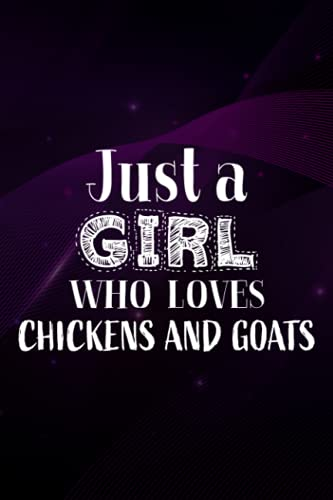 Baby Log Book - Womens Just A Girl Who Loves Chickens And Goats - Funny Farming Graphic Meme: Peach Stripe Tracker for Newborns, Breastfeeding Journal, Sleeping and Baby Health Notebook,Daily