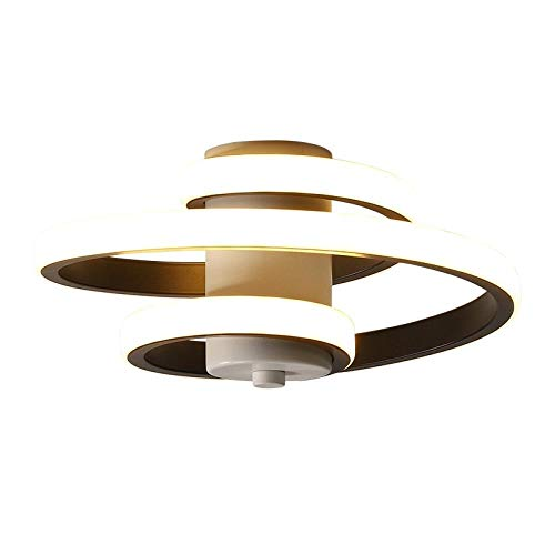 PLBB3K Luces de Techo LED Modernas para la Entrada en el hogar Balcón Lámparas de Pasillo Dormitorio Blanco Negro Indoor Iluminación de Accesorios-White_Warm Blanco