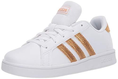 adidas Grand Court Tenis para niños, Blanco (Blanco/Dorado táctil), 30 EU