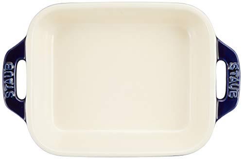staub ストウブ 「 レクタンギュラー ディッシュ グランブルー 14×11cm 」 セラミック グラタン皿 オーブン 電子レンジ対応 【日本正規販売品】 Dish 40508-583