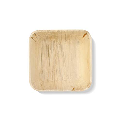 12 Palm Leaf Plates| 6'' Bowl| Elegant and Hassle-Free| Natural Alternative to Paper or Plastic| Strong and Durable| Perfect for Parties