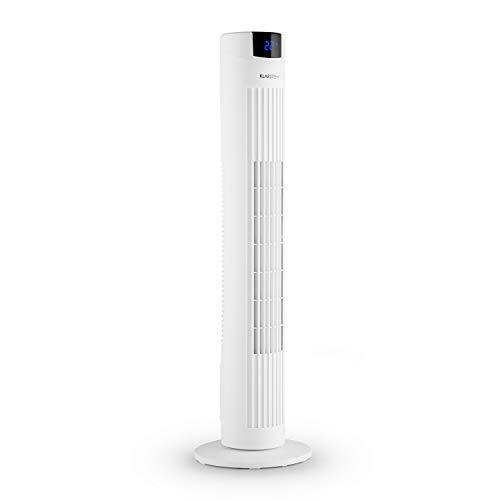 Klarstein Skyscraper 2G - Säulenventilator 40W Luftdurchsatz 820 m³/h Oszillation, Fernbedienung Timer, 3 Geschwindigkeitsstufe, Touch-Bedienfeld, leise, platzsparendes Turm-Design, weiß