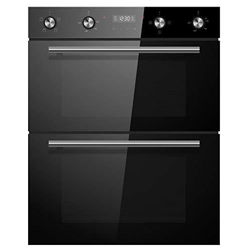Cookology CDO720BK 60cm Black Built-under Electric Double Oven &