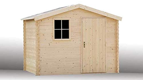 Alpholz Gartenhaus Sterntaler aus Fichten-Holz 270 x 210 cm