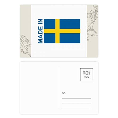 DIYthinker Hegestellt in Schweden Land Liebes-Blumen-Postkarten-Set dankt Karte Mailing Side 20pcs 5.7 Zoll x 3.8 Zoll Mehrfarbig