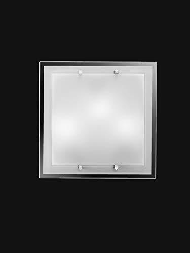 Lámpara de techo o pared Perenz 5744 en vidrio medidas 40x40x7,5 cm necesita tres bombillas E27 max 40W