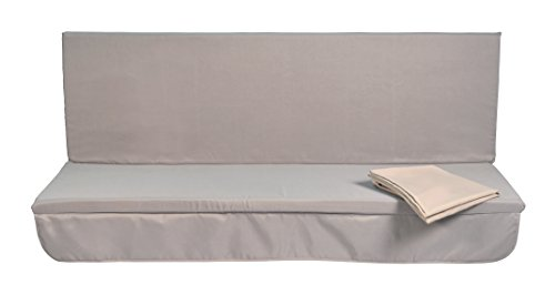 Stiliac Fodera Cuscini per Dondolo 4 Posti, Grigio, 174x75x1 cm